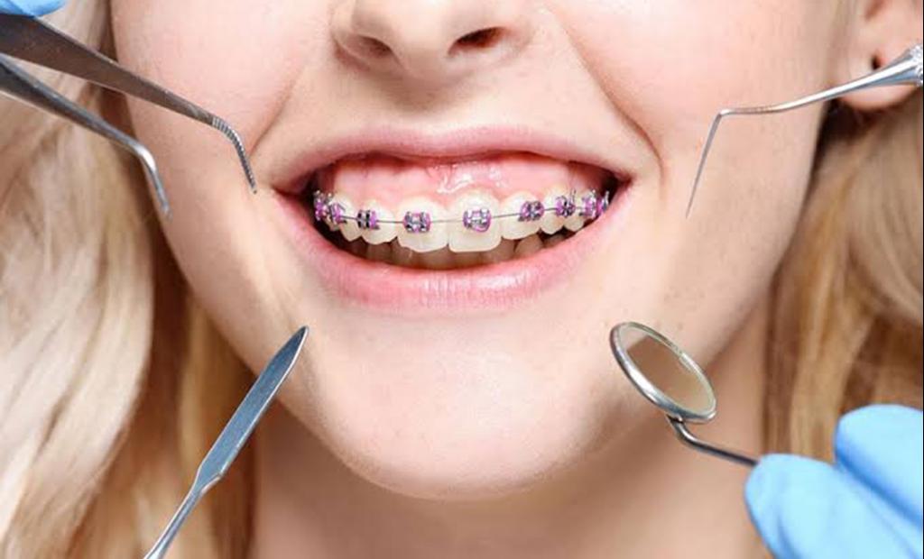 girl having her dental check up