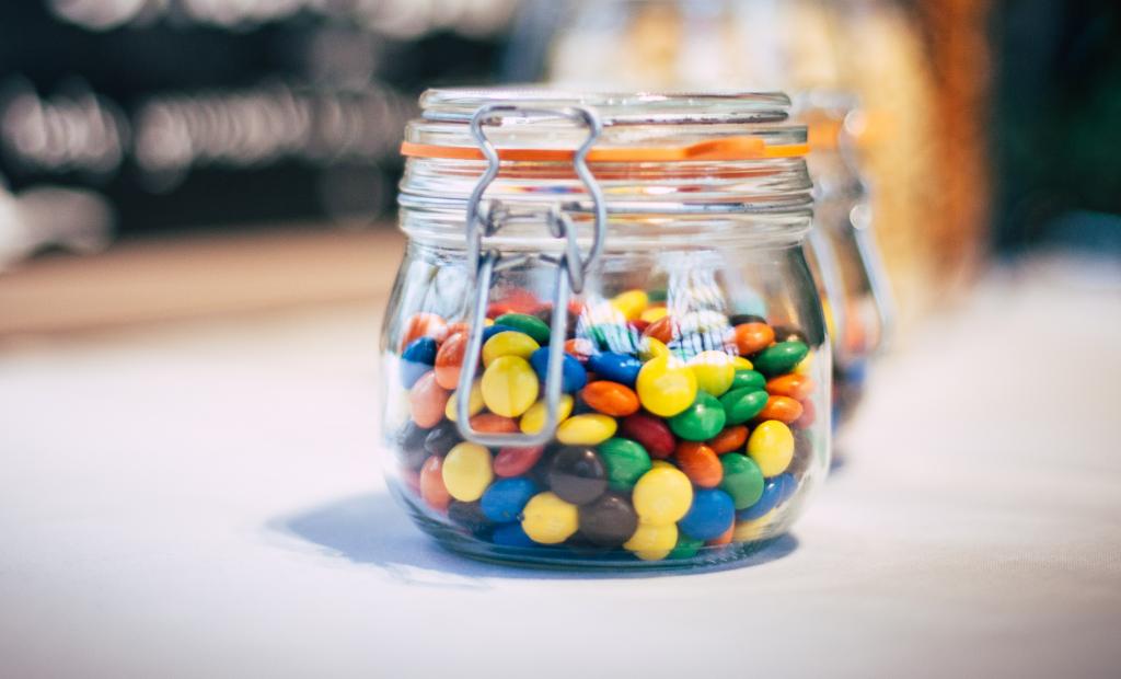 chocolate in a jar