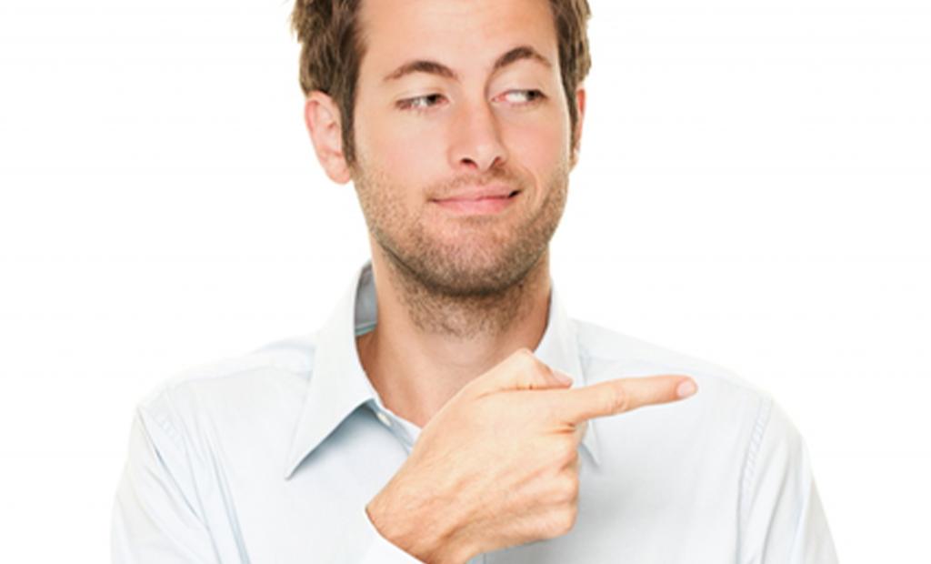 man doing hand gestures