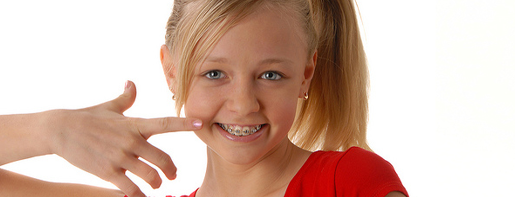 a teen wearing braces