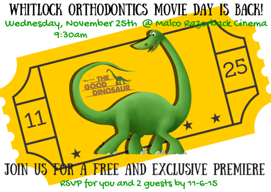 Whitlock Ortho Patient Appreciation Movie Day!!!